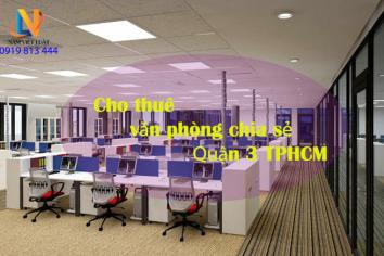 Dịch vụ cho thuê văn phòng chia sẻ Quận 3 TPHCM đầy đủ tiện nghi